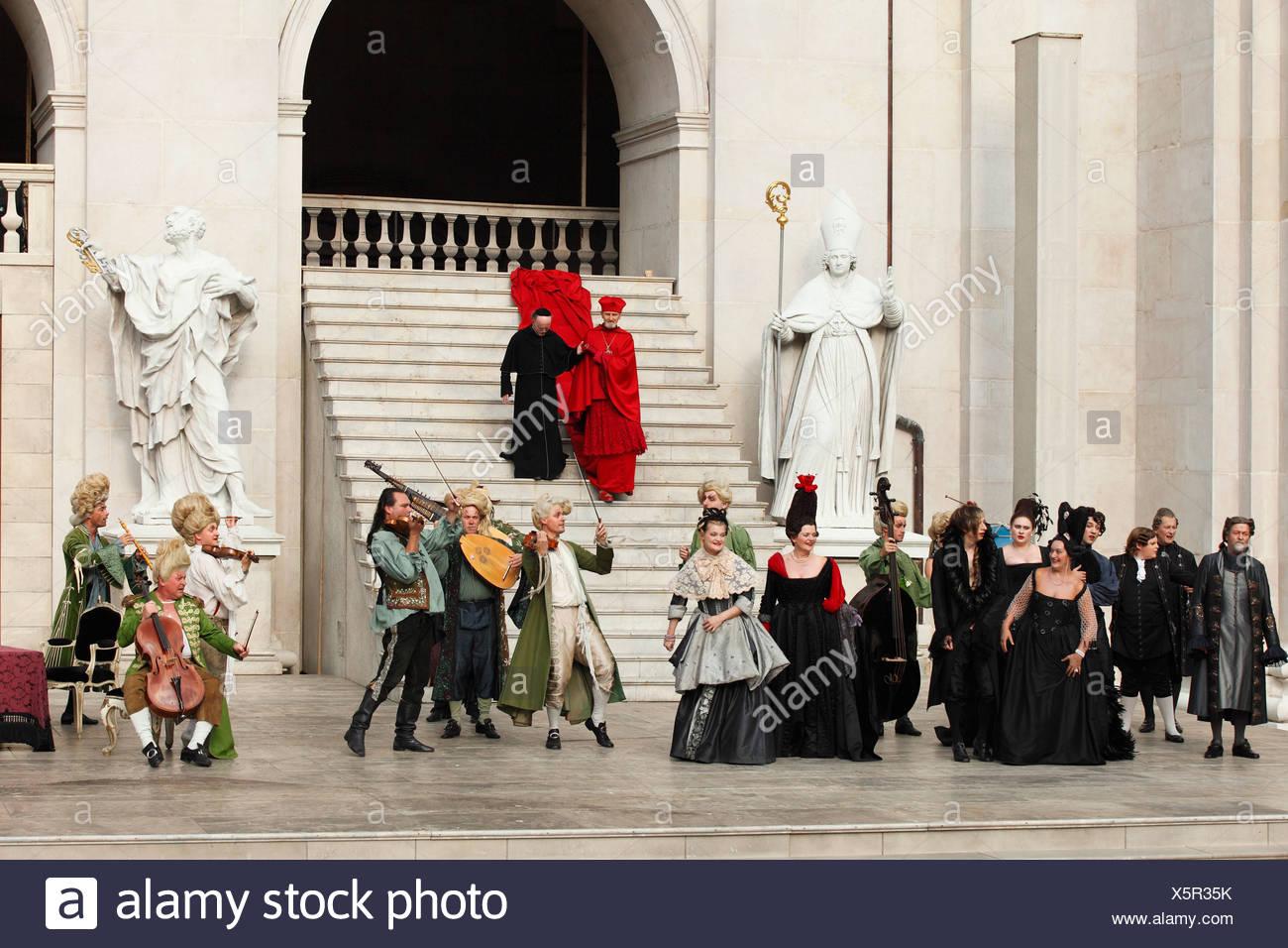 Jedermann, jedermann, spielen 2009, von Hugo von Hofmannsthal, Salzburger Festspiele, Salzburg, Österreich, Europa Stockbild