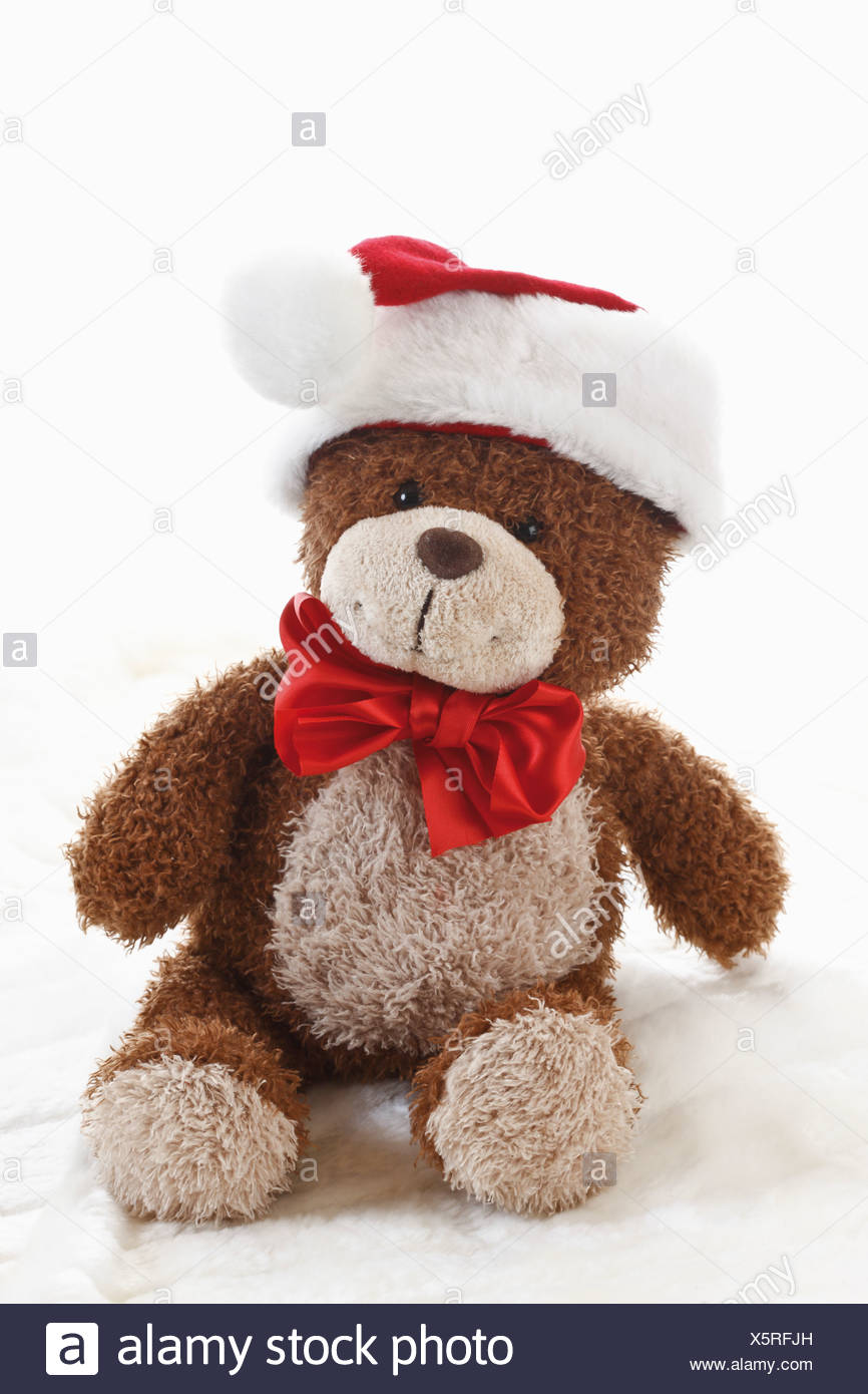 Teddy Weihnachten.Teddy Bear Tragen Weihnachten Kappe Stockfoto Bild 278956345 Alamy