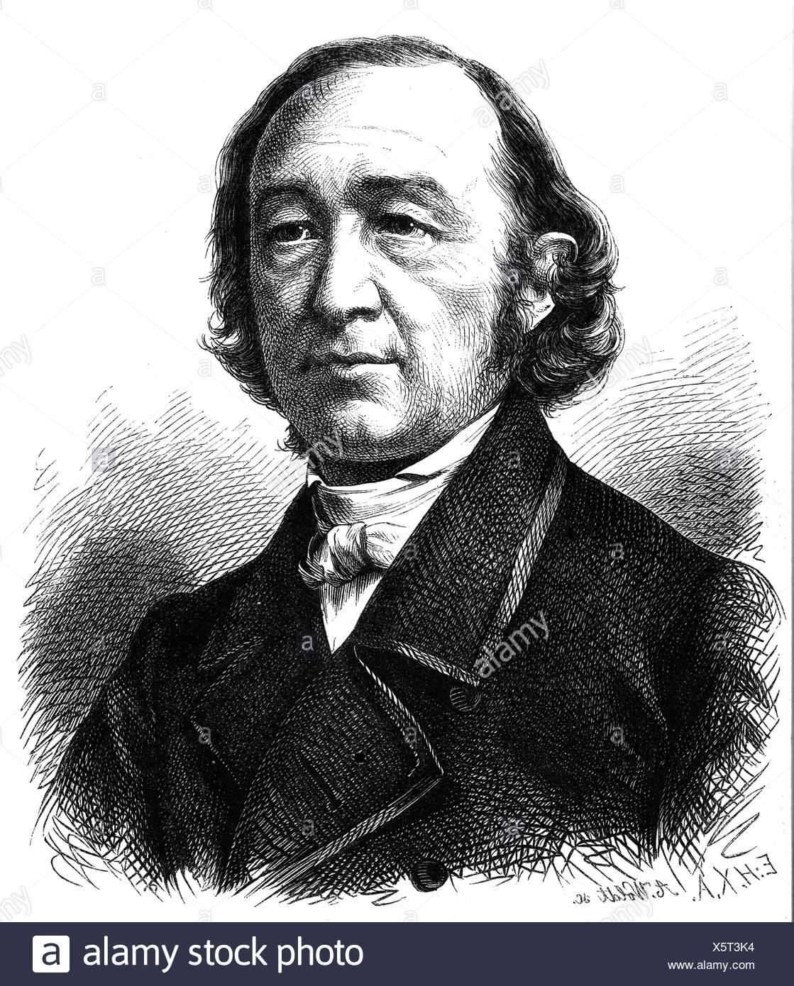 Sturm, Julius, 21.7.1816 - 2.5.1896, deutscher Dichter, Porträt, holzstich von A. Woldt, nach Foto, 19. Jahrhundert, Additional-Rights-Spiel-NA Stockbild
