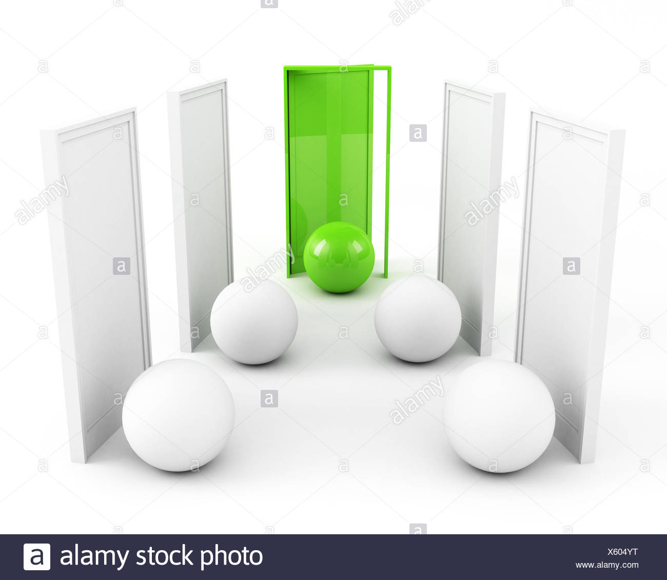 Tür zum Erfolg. Business-Erfolg-Konzept. Grün Stockbild
