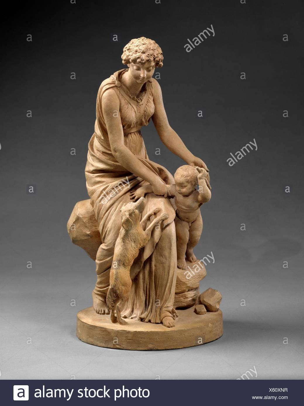 Treue, die Mutter der beständige Liebe. Artist: Augustin Pajou (Französisch, Paris 1730-1809 Paris); Datum: 1799; Kultur: Französisch, Paris; Medium: Stockfoto