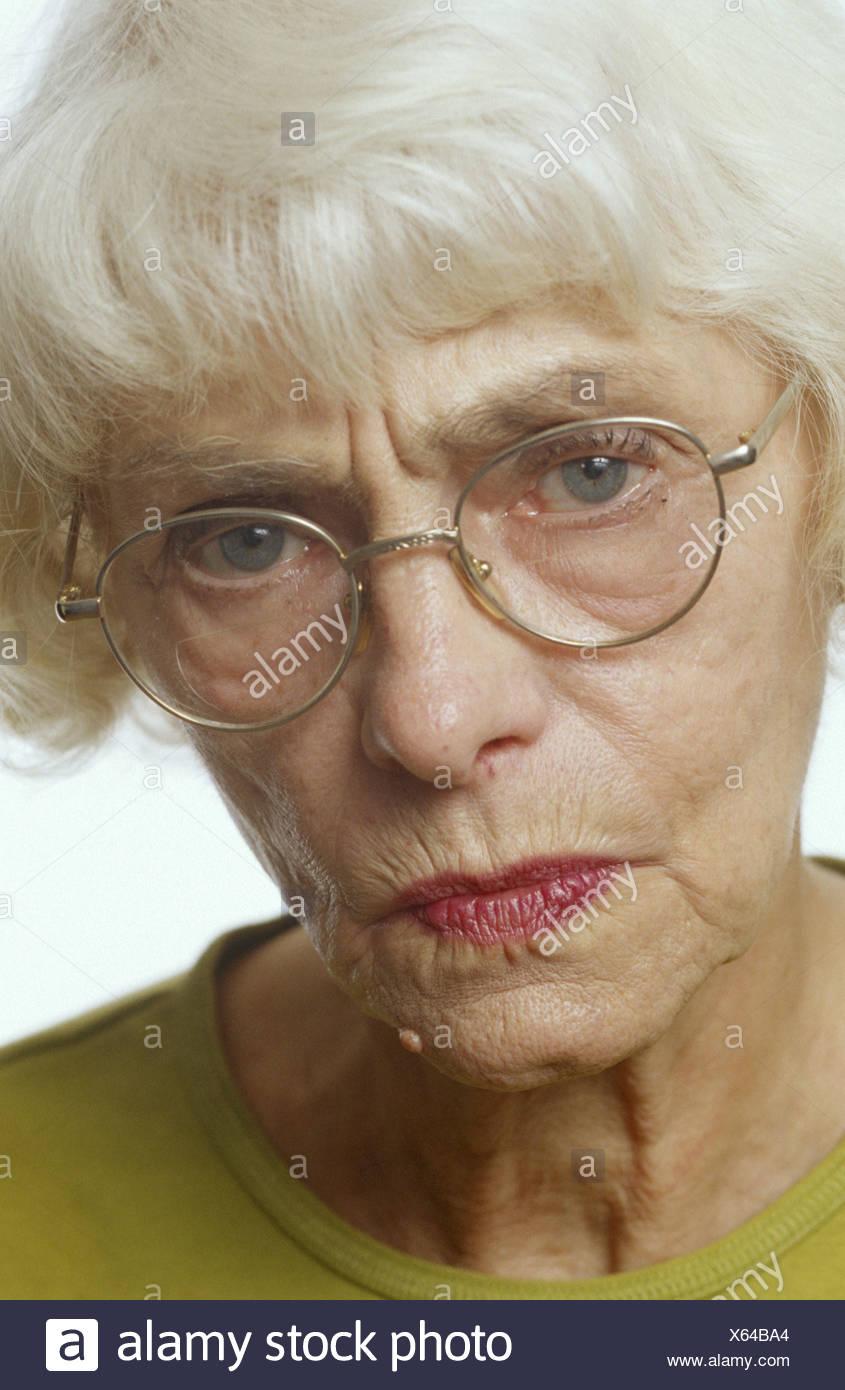 Süße alte Dame