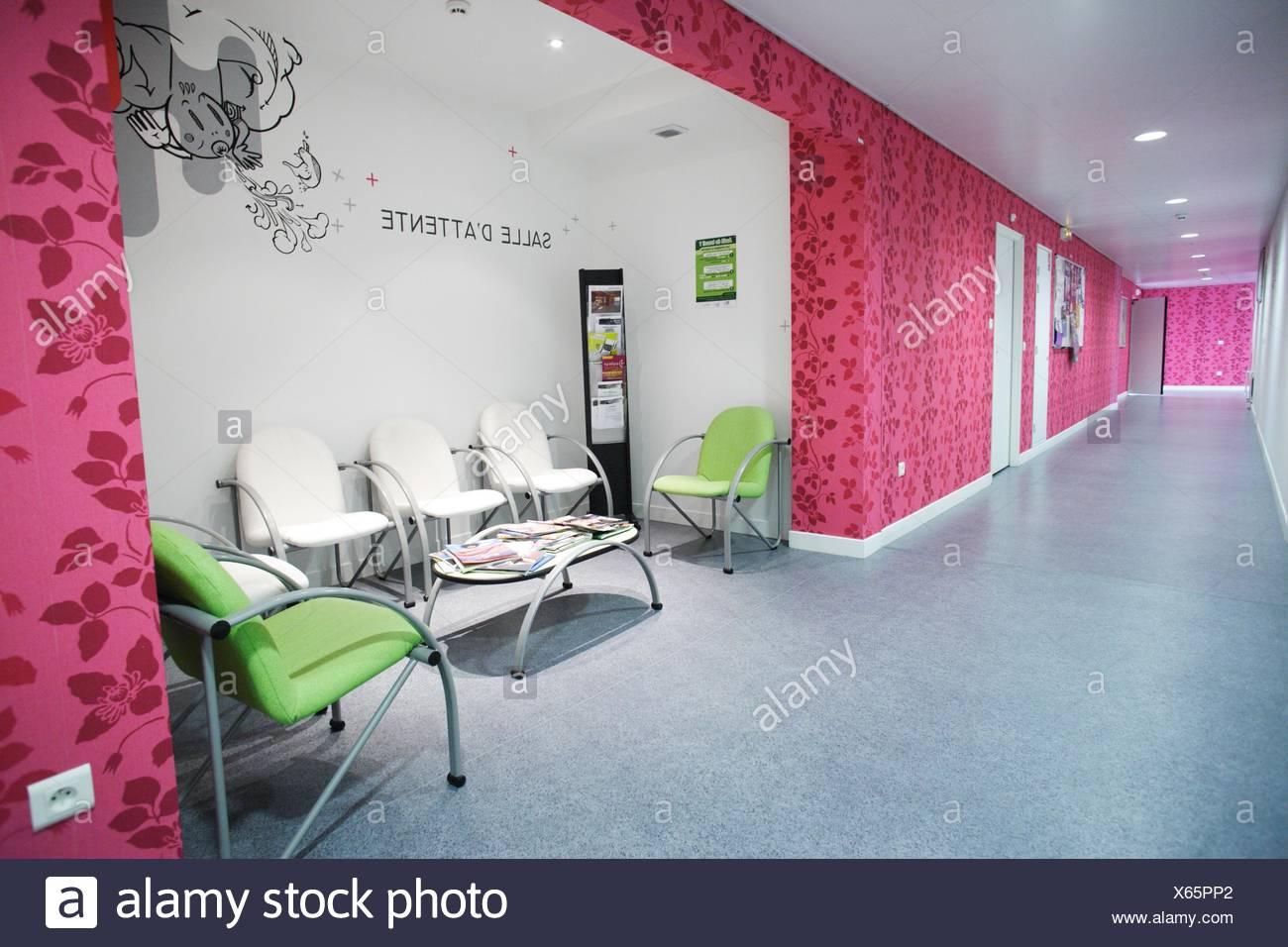 Psychiatrische Hospitalisierung Einheit, Krankenhaus in Nantes, Frankreich. Stockbild