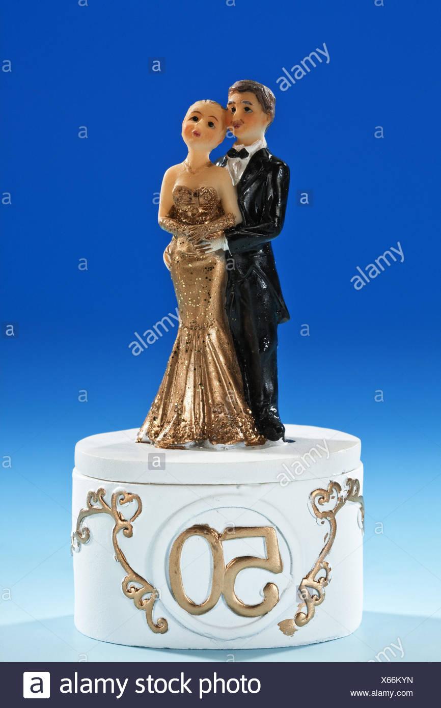 älteres Paar 50 Hochzeit Tag Figuren Dekoration