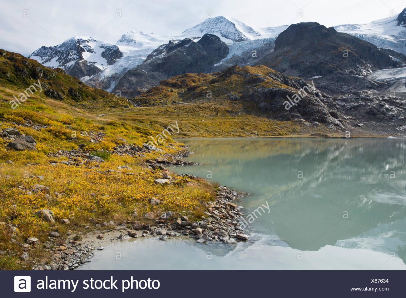 See-Stein, Steinsee, Gwächtenhorn, Tierberg, Sustenpass, Wolken, Wolke, Berg, Berge, Bergsee, Gletscher, Eis, mora Stockbild