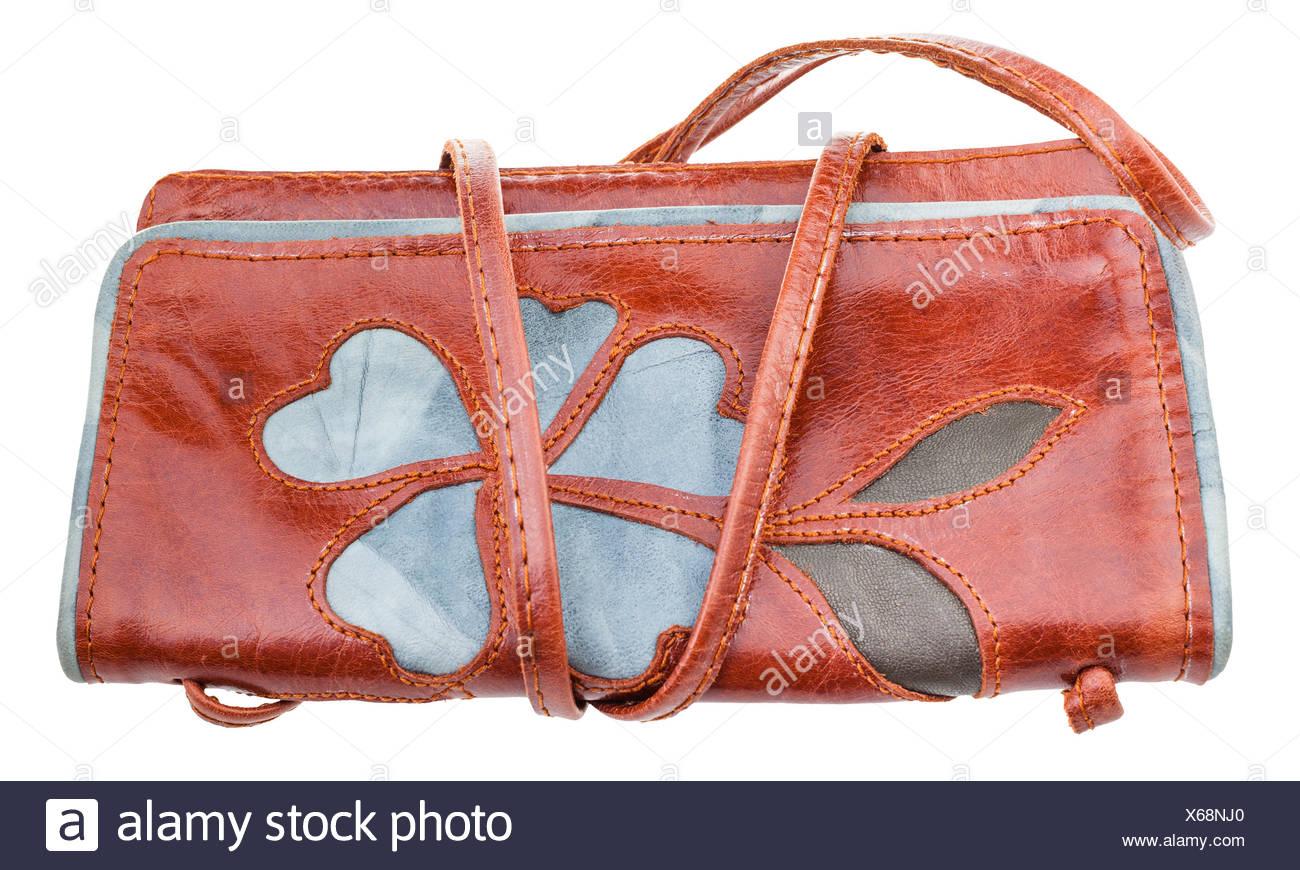 7f03d3d775c86 Braune Applique Stockfoto Kleine Handtasche Eingerichtet Flower Von  wOPilkXZuT