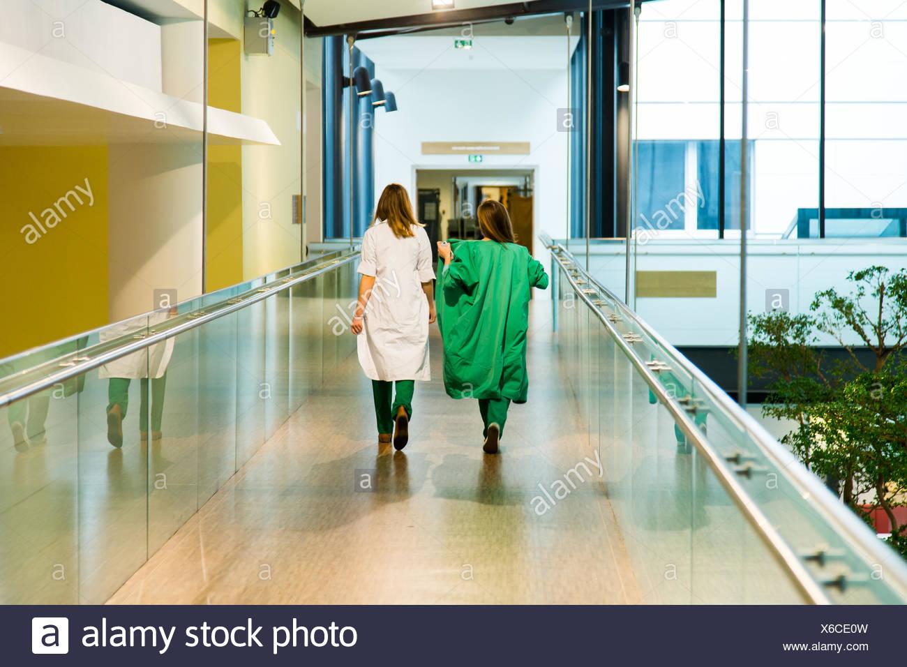Krankenhausflur. Stockbild