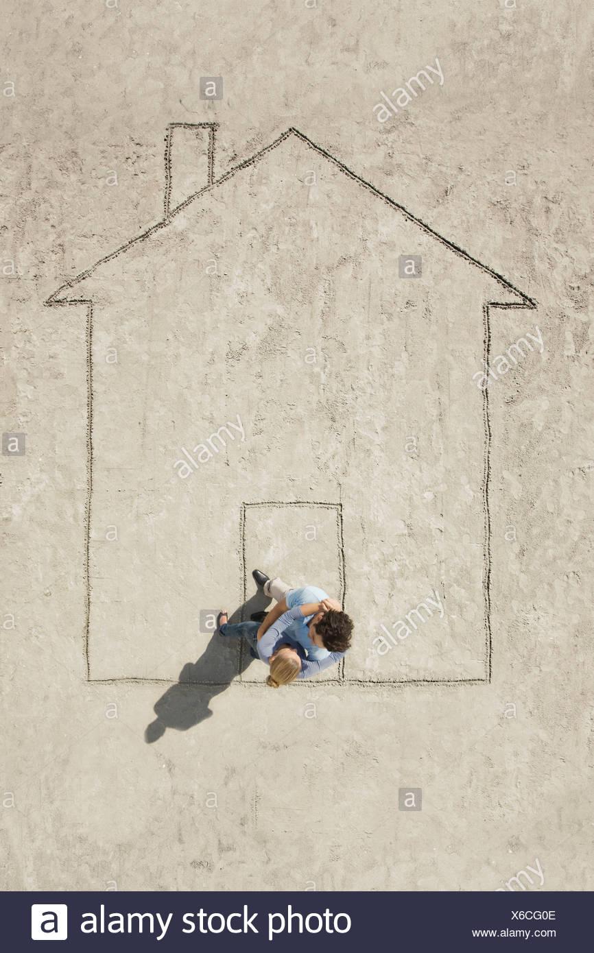 Ein Haus Stockbild