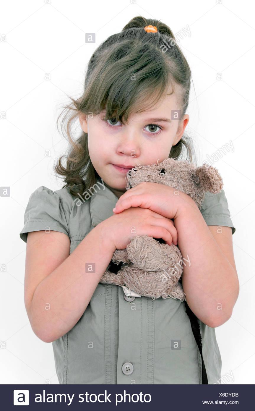 verängstigte Mädchen Stockbild