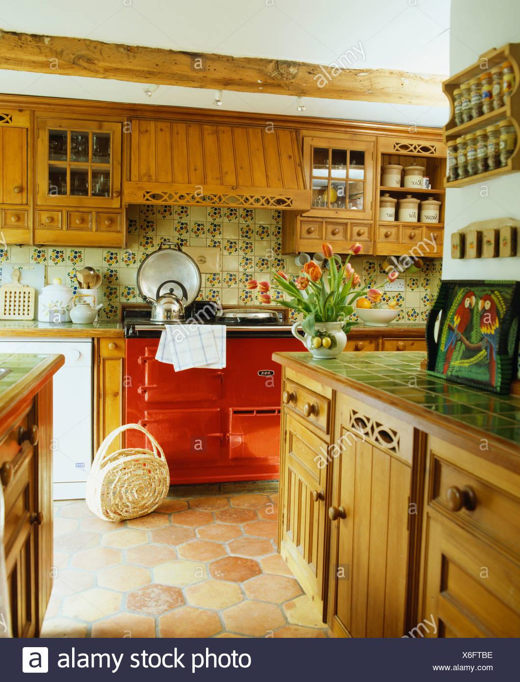 Red Terracotta Floor Stockfotos Red Terracotta Floor
