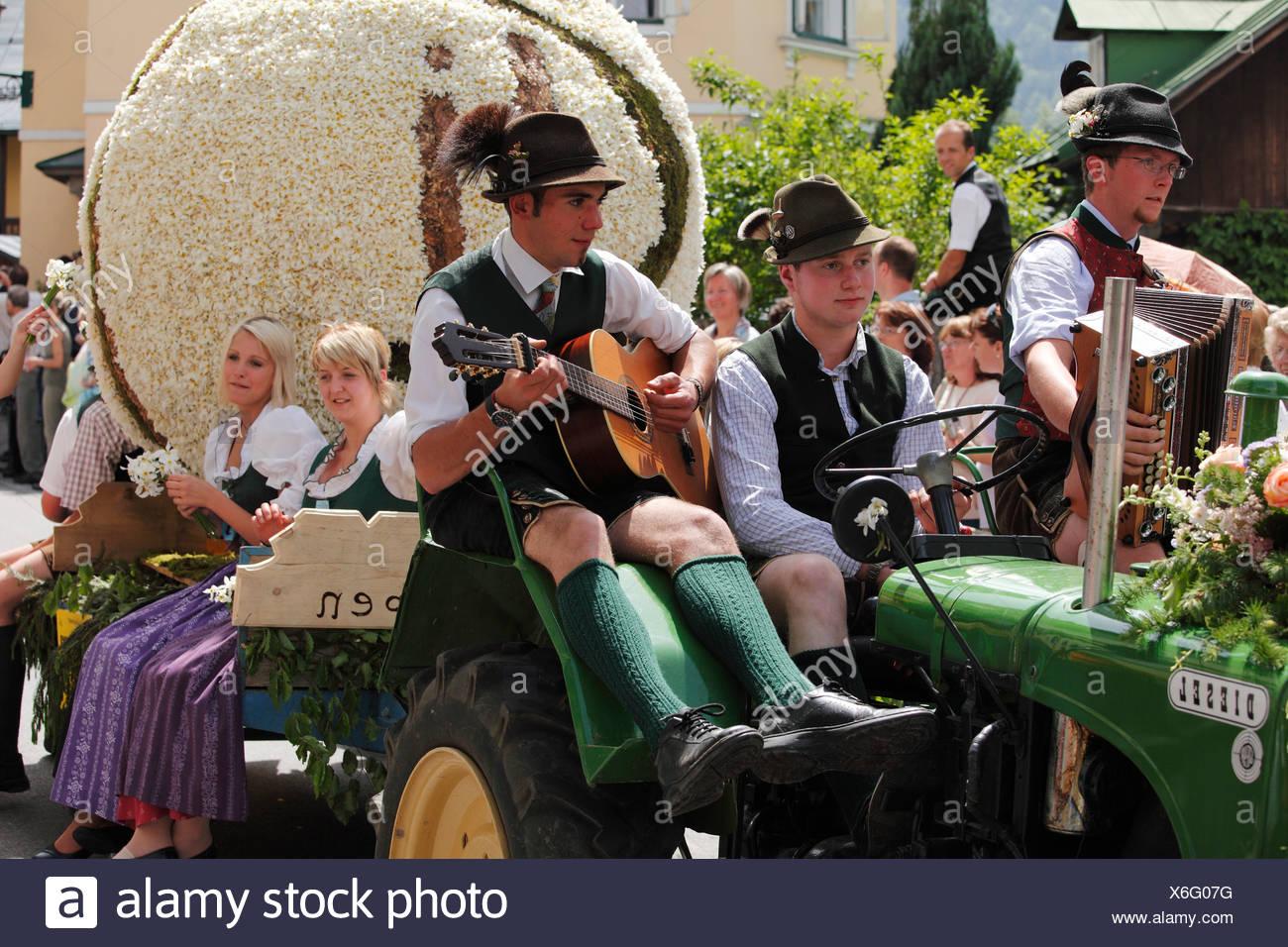 Narzissenfest Narcissus-Festival in Bad Aussee, Ausseer Land, Salzkammergut, Steiermark, Österreich, Europa Stockbild