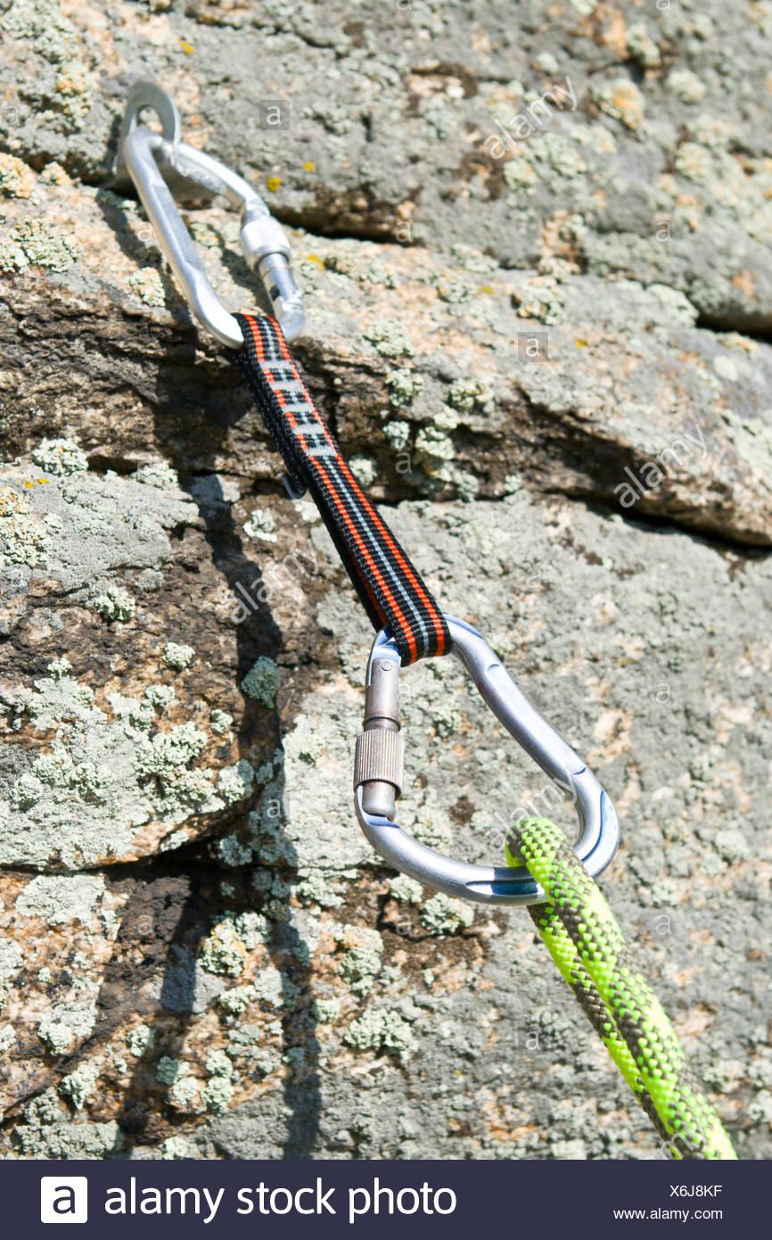 Klettern Ausrüstung Stockbild