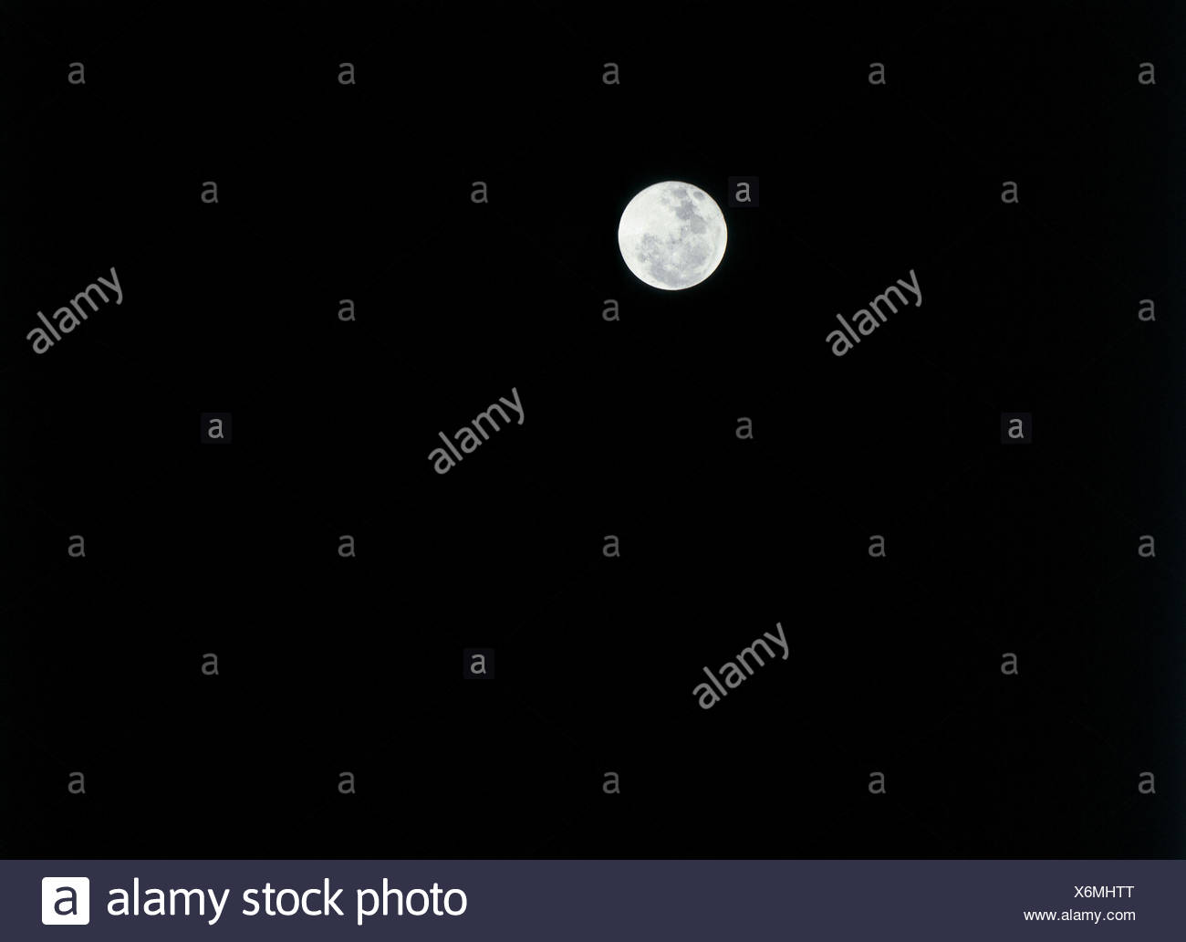 bei Nacht Vollmond Mond Nachthimmel Stockbild