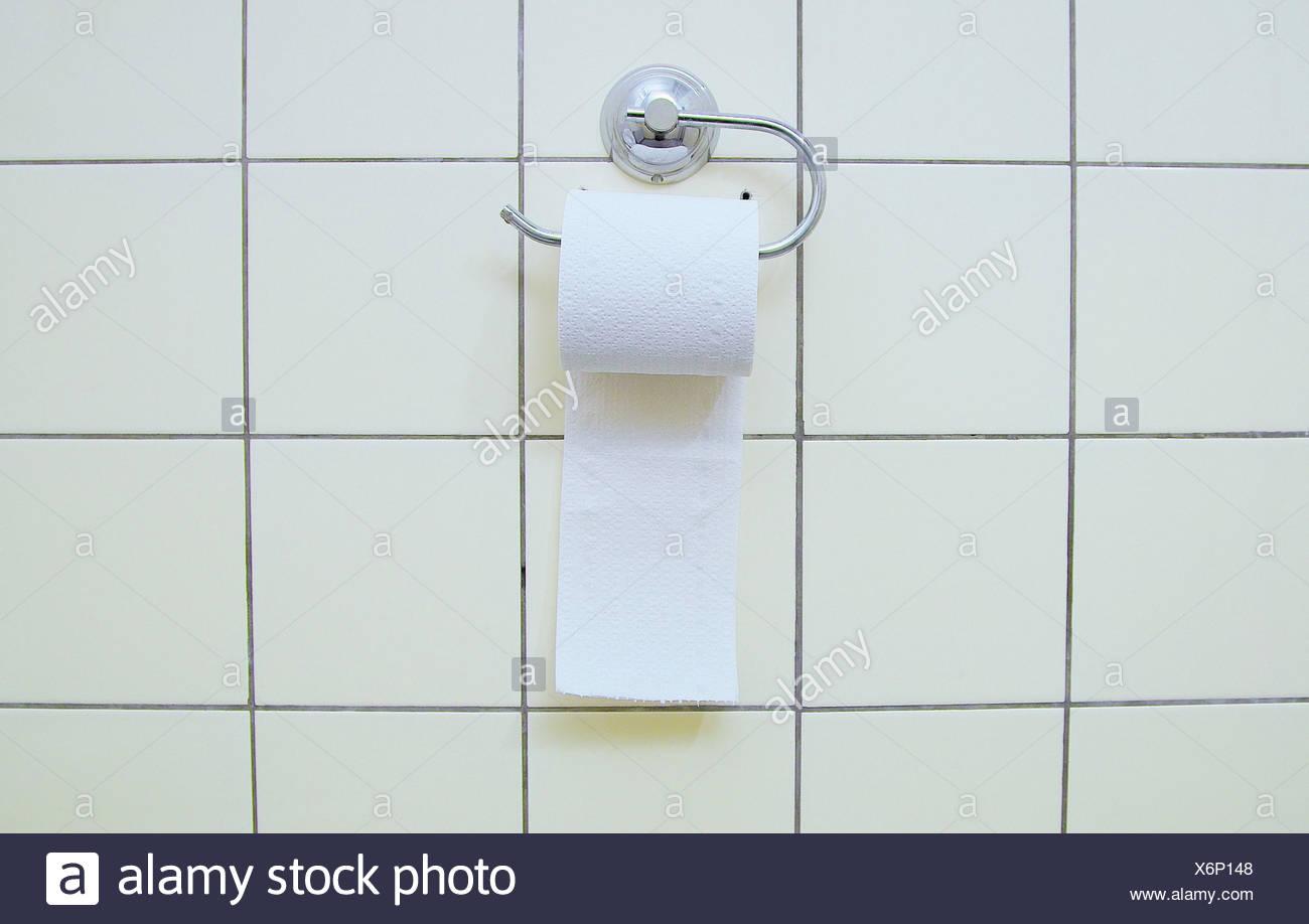 bad, fliesen, wand, loo rollenden halter, wc-papier, bad, wc