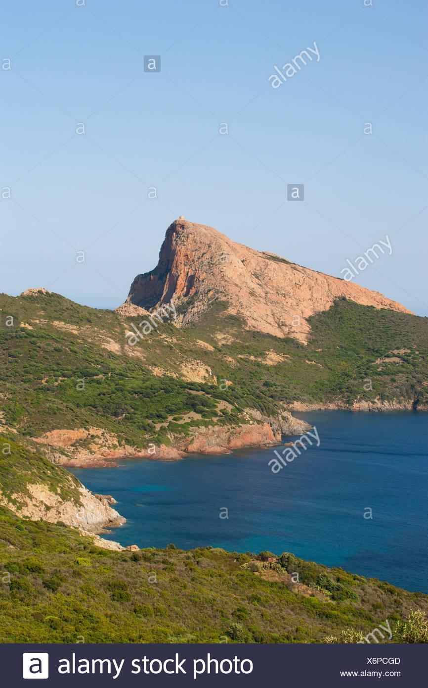 Korsika, Golfe de Porto, Capu Rosso Stockbild