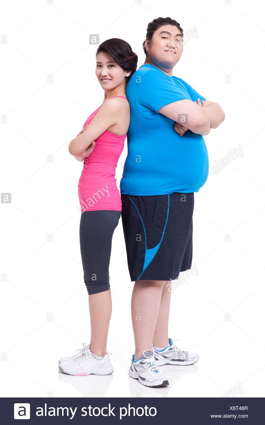 Frau mann schlanke dicker Gibt es