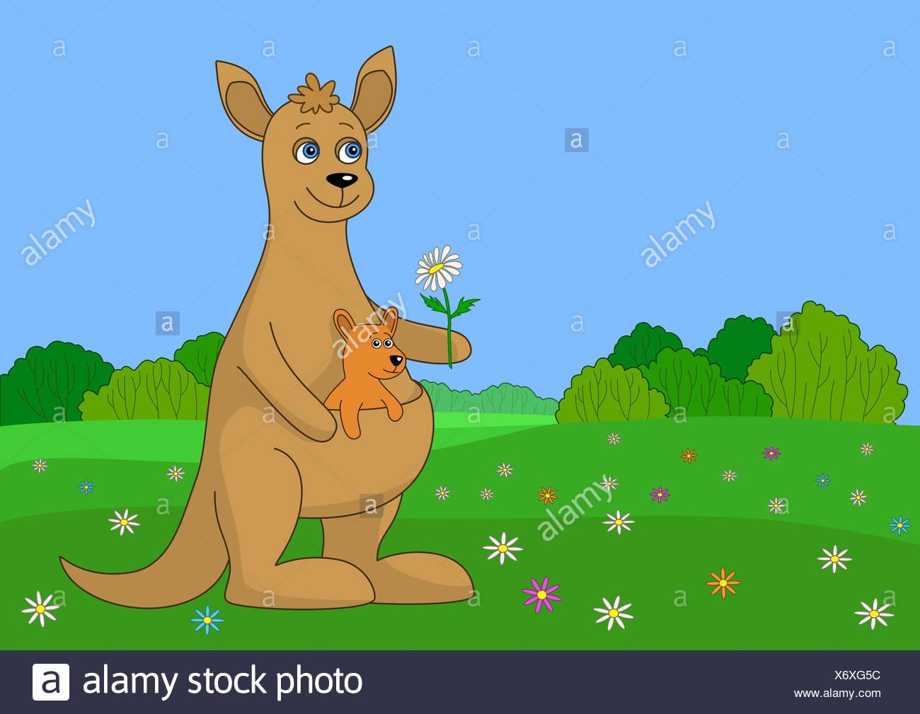 Cartoon Baby Kangaroo Stockfotos & Cartoon Baby Kangaroo Bilder - Alamy