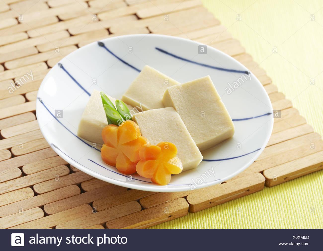Koya Dofu, gefriergetrocknete tofu Stockbild
