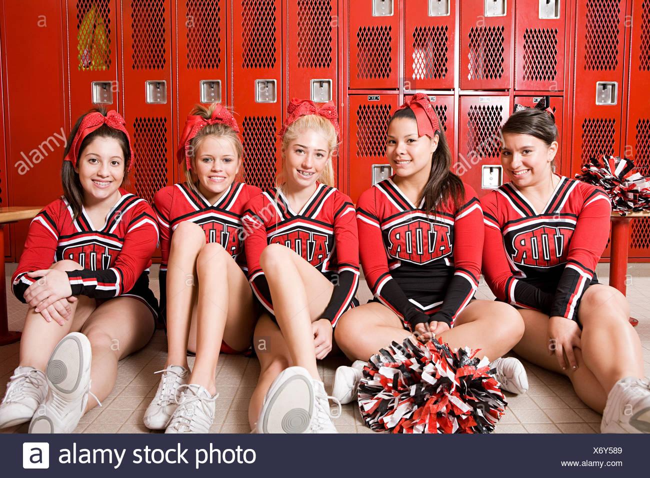 Cheerleader Trainer Umkleideraum