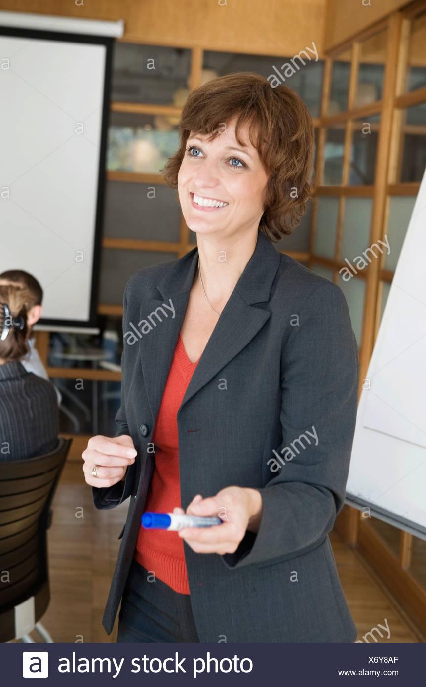 Frau zu lehren Stockbild