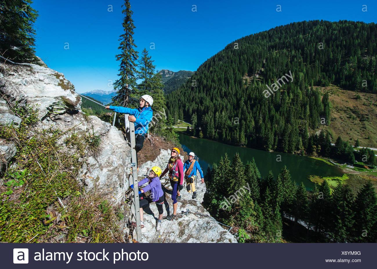 Klettersteig Zauchensee : Österreich salzburger land altenmarkt zauchensee familie am