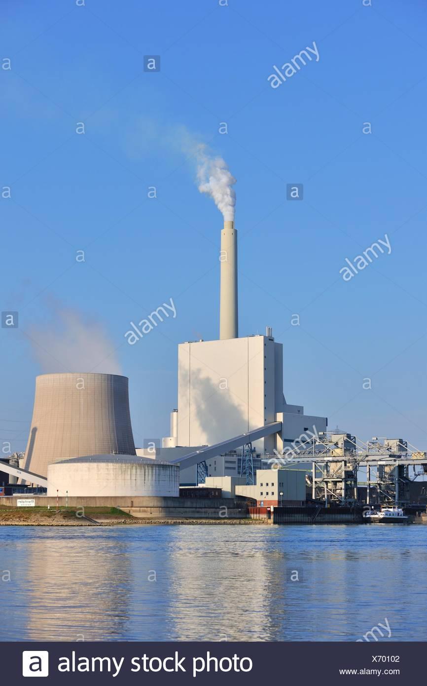 Kohlekraftwerk, EnBW Kraftwerk, Karlsruhe, Baden-Württemberg, Deutschland Stockbild