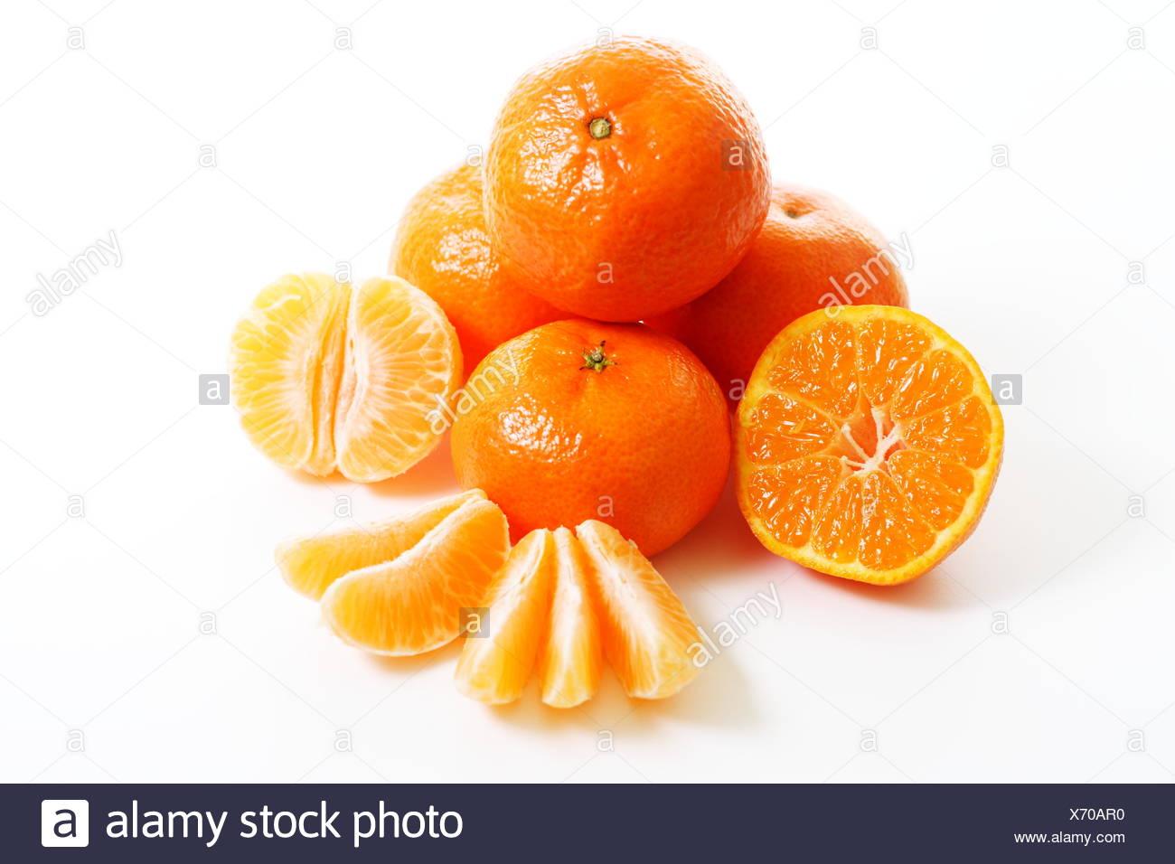 Orangen essen Nahrungsmittel Stockbild