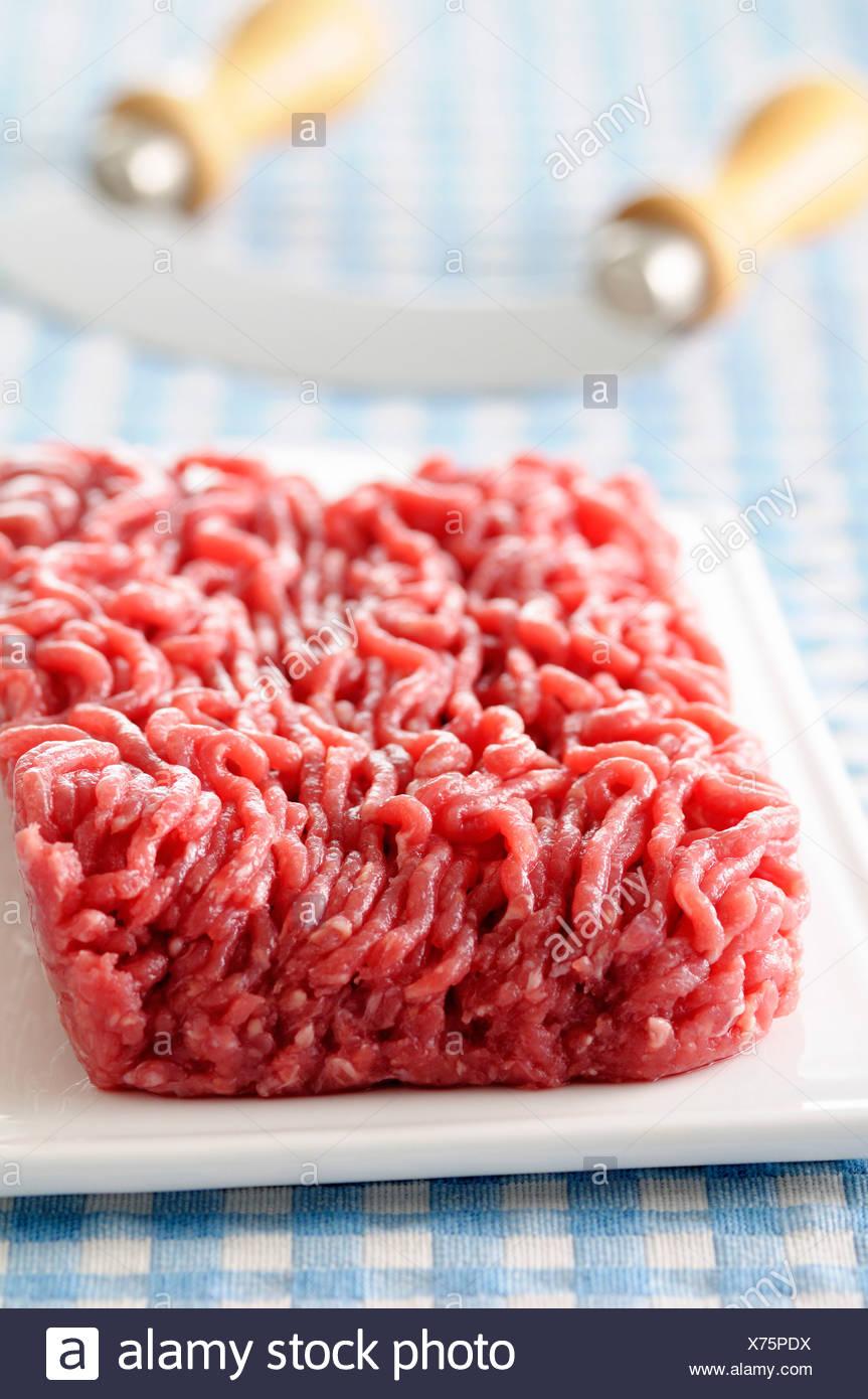 Rohen hamburger Stockbild
