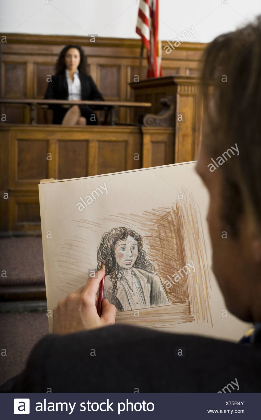 Courtroom Sketch Stockfotos & Courtroom Sketch Bilder - Alamy
