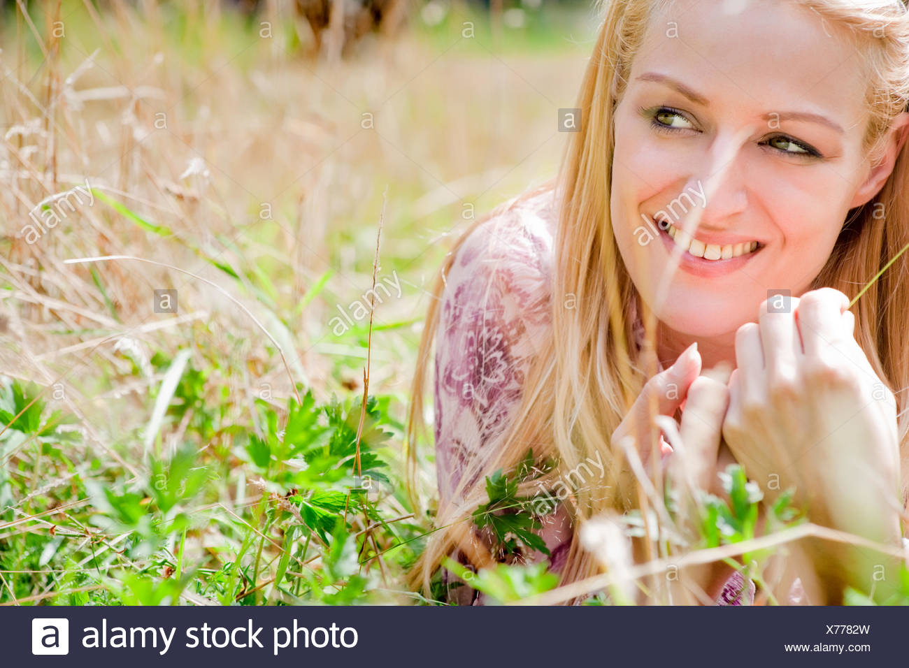 Glücklich Leben Mädchen Stockbild