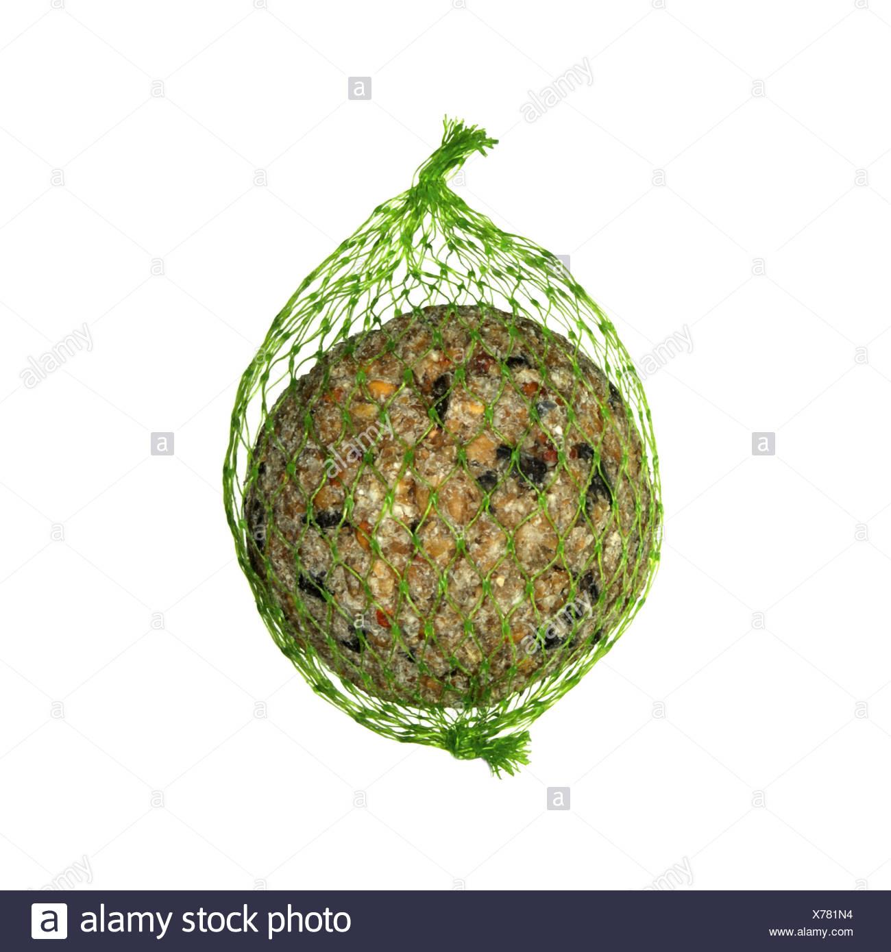 Fat Ball für gemeinsamen Garten Vögel füttern Stockbild