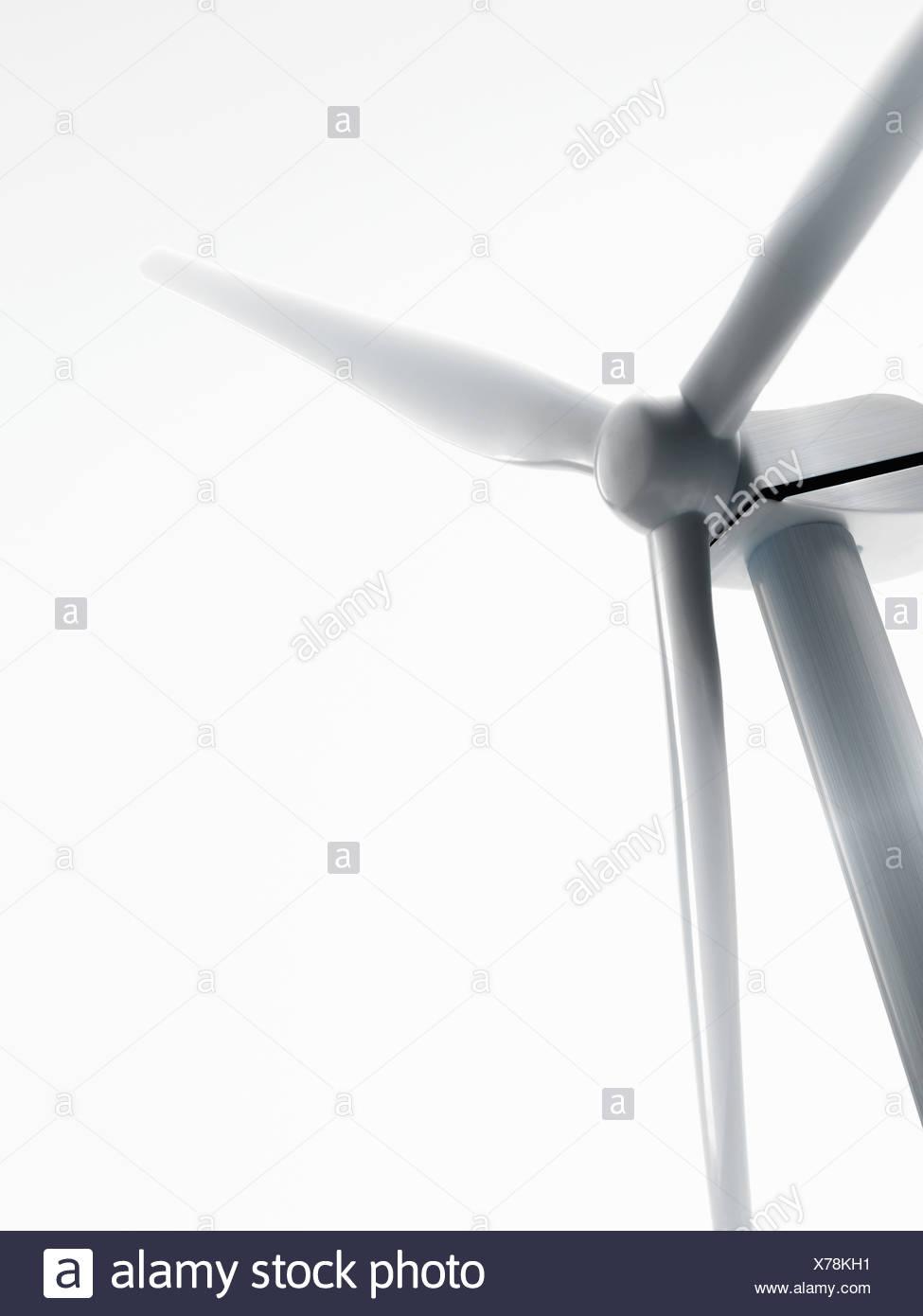 Windturbine oder Windkraftanlage Stockbild