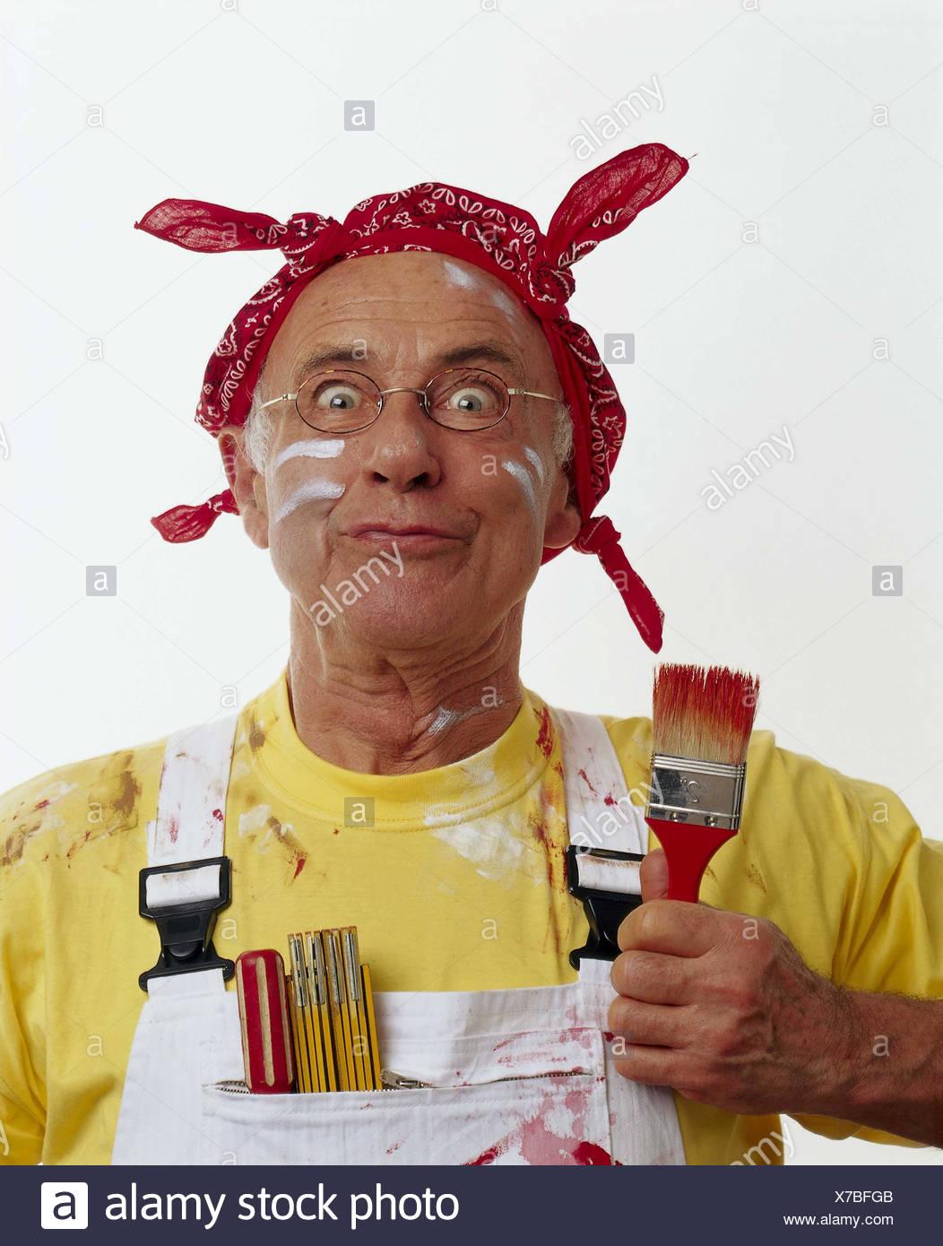 feinste Stoffe billig zu verkaufen Entdecken Heimwerken, Renovierung, senior, Blick, kontaminiert, Farbe ...