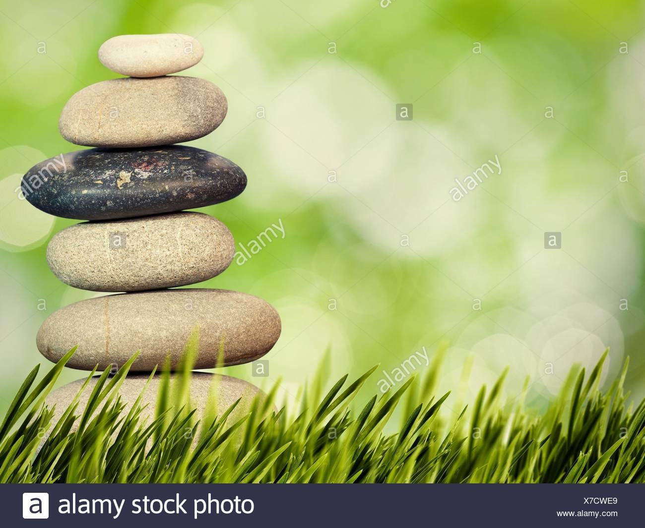 Wellness, Gesundheit und natürliche Harmonie Konzept. Abstrakte natürlicher Herkunft. Stockbild