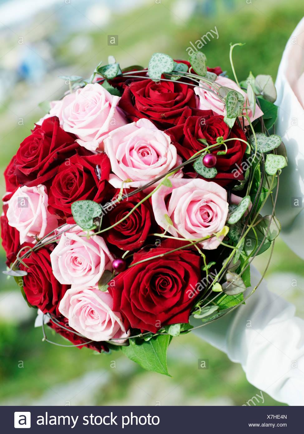 Ein Brautstrauss Nahaufnahme Schweden Stockfoto Bild 280052773
