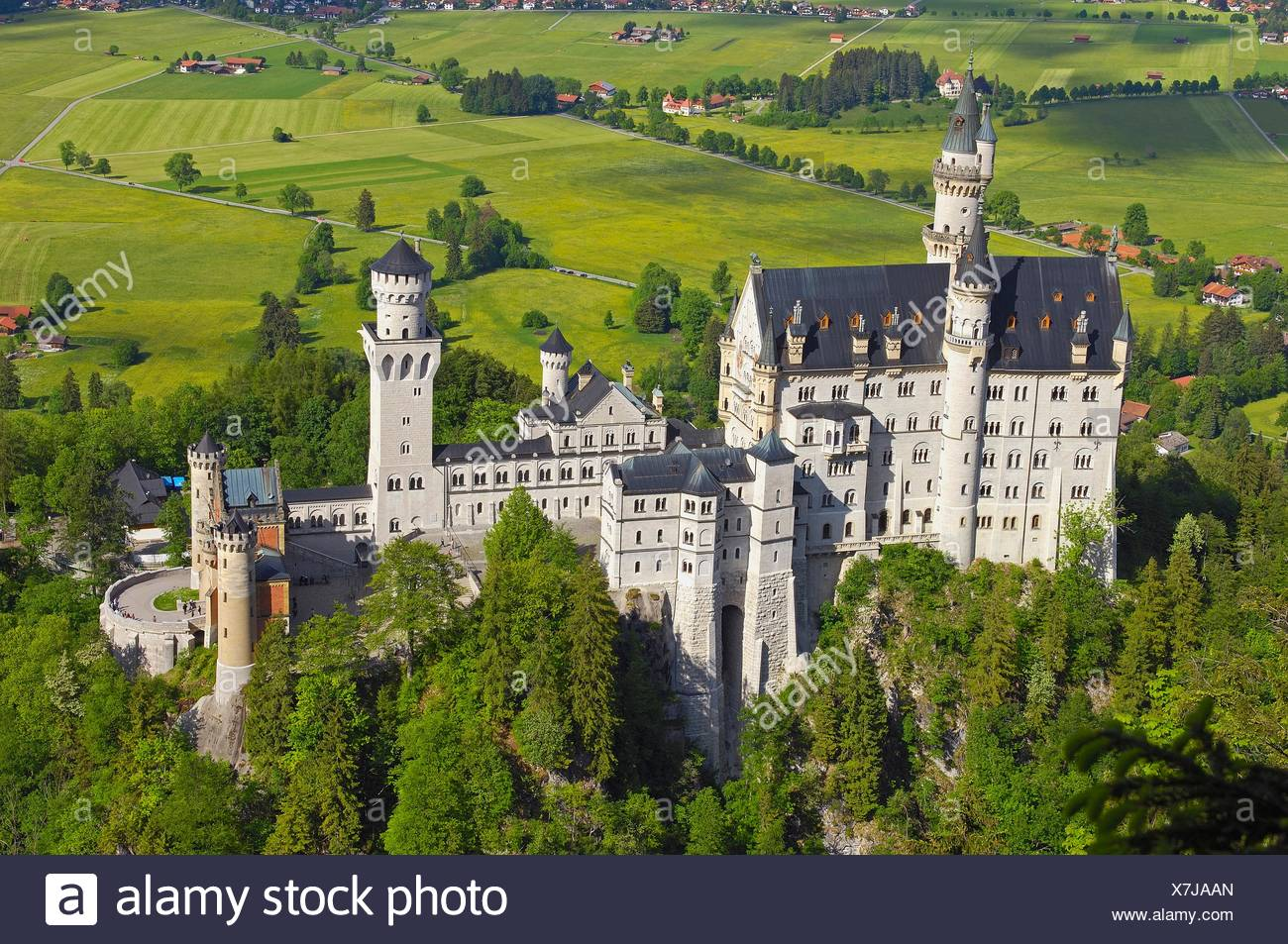 schloss neuschwanstein schloss neuschwanstein allg u f ssen romantische stra e romantic. Black Bedroom Furniture Sets. Home Design Ideas