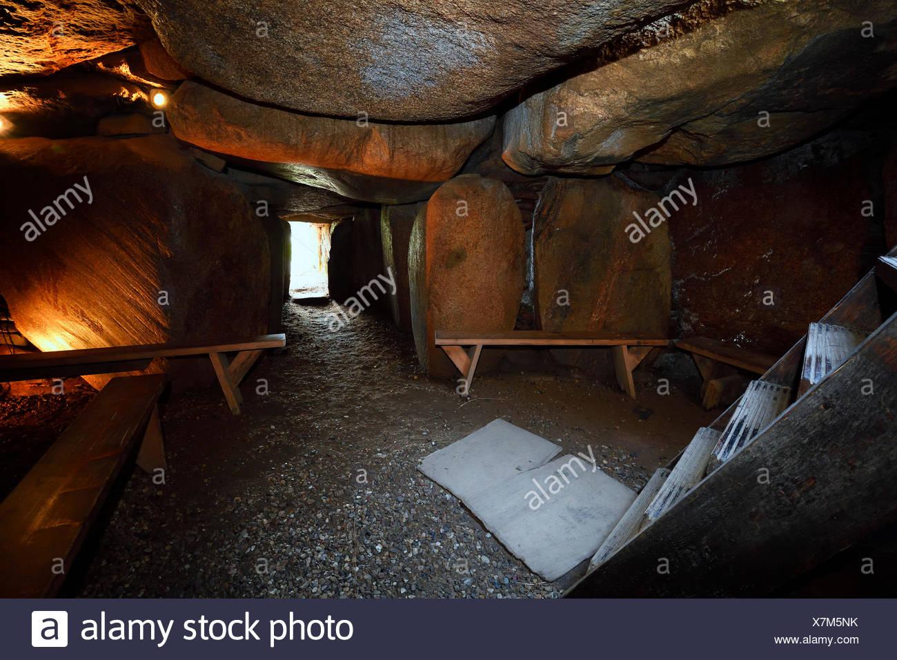 Huenengrab Deenhoog, Kampen, Sylt, Nordfriesische Inseln, Nordfriesland, Schleswig-Holstein, Deutschland Stockbild