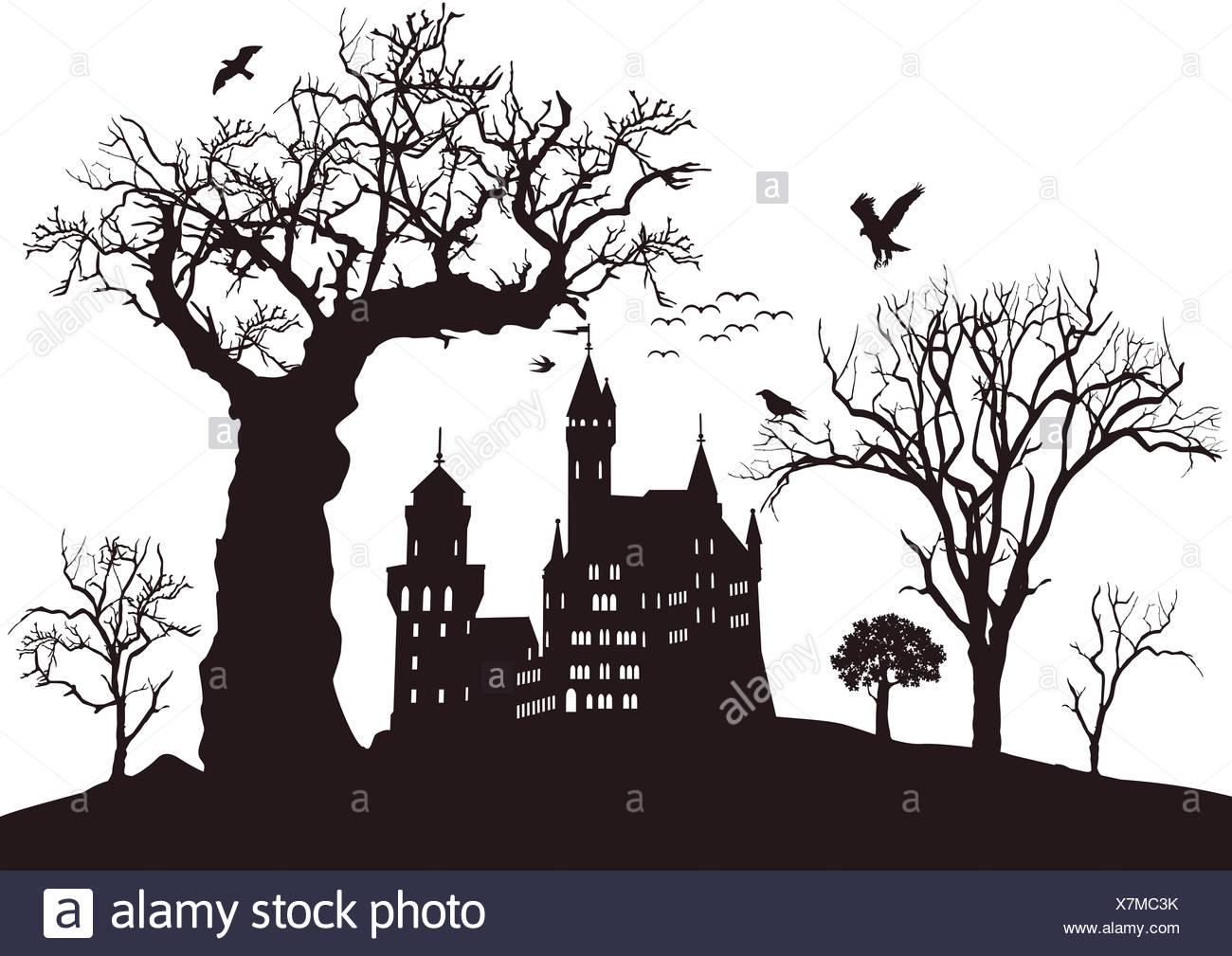 schwarze Burg Stockbild