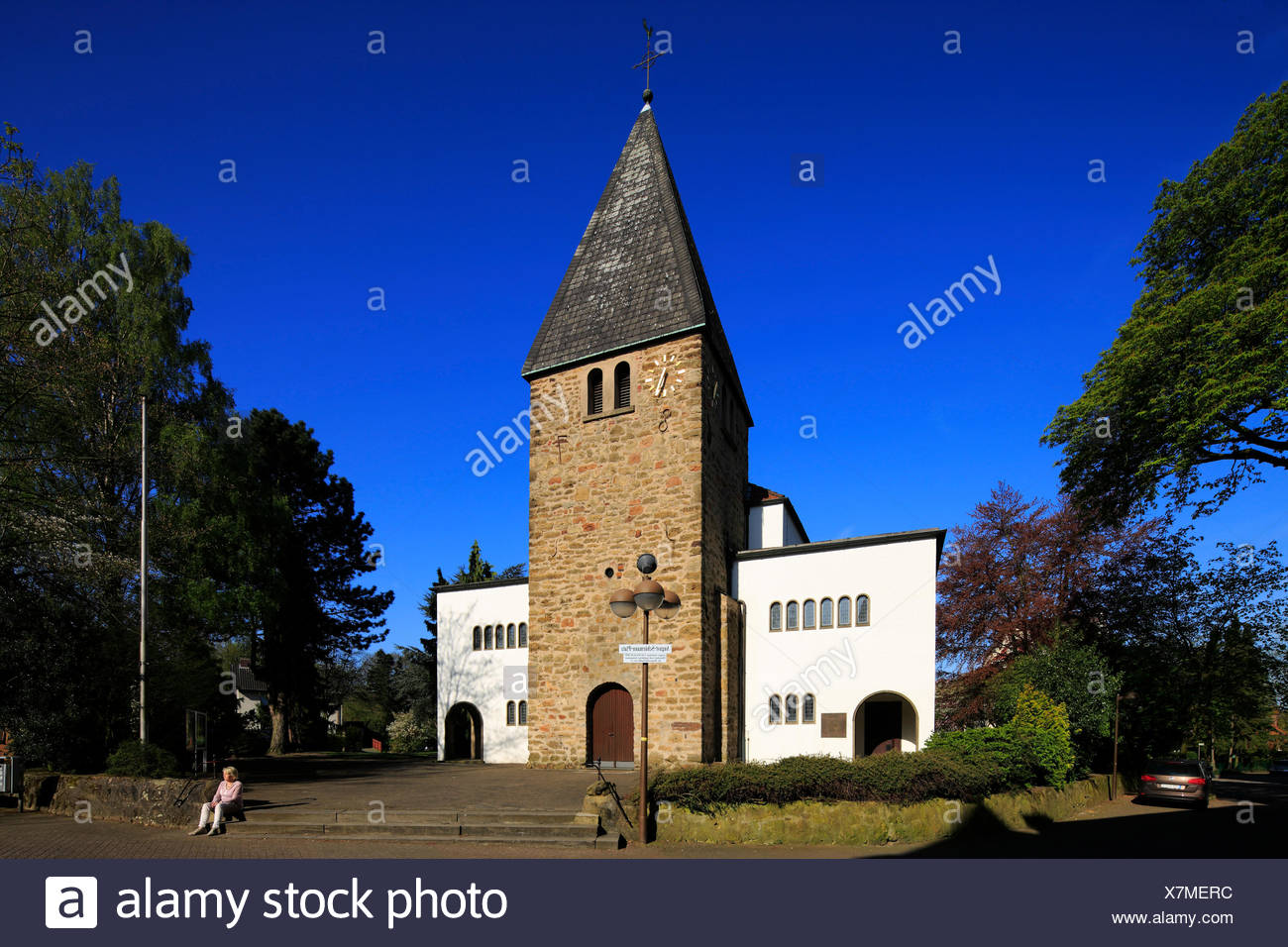 Kirche St. Peter und Paul in Oer-Erkenschwick, Ruhrgebiet, Nordrhein-Westfalen Stockbild