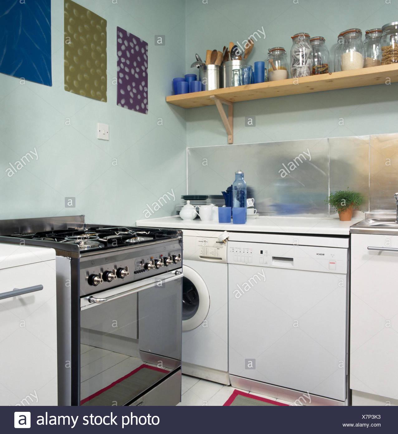 Außergewöhnlich Küche Mit Waschmaschine Ideen Von Edelstahl-herd Geschirrspüler Und In Der Küche Im