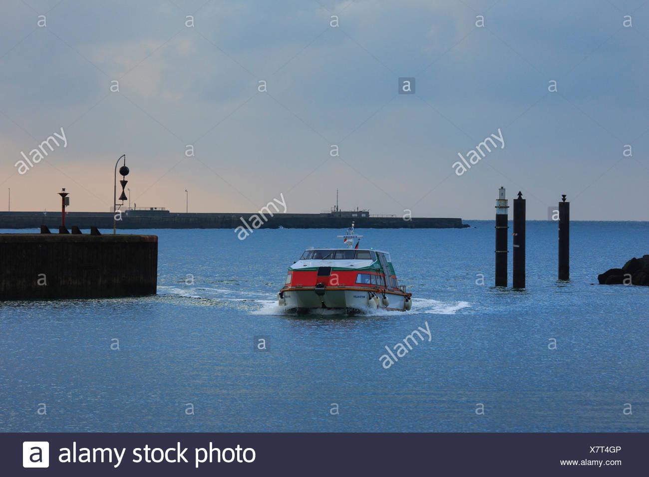 Setzt auf investiert, Bootssteg, Deutschland, Europa, Düne, Dünen Fähre, Fähren, Fähre, Fähren, Fähre, Hafen, Hafen, Hafen, H Stockbild