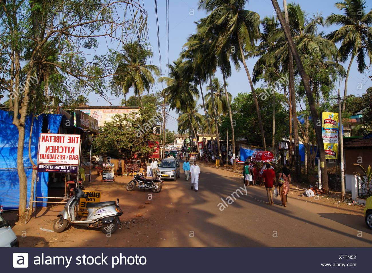 Calangute, Goa, indien Stockbild