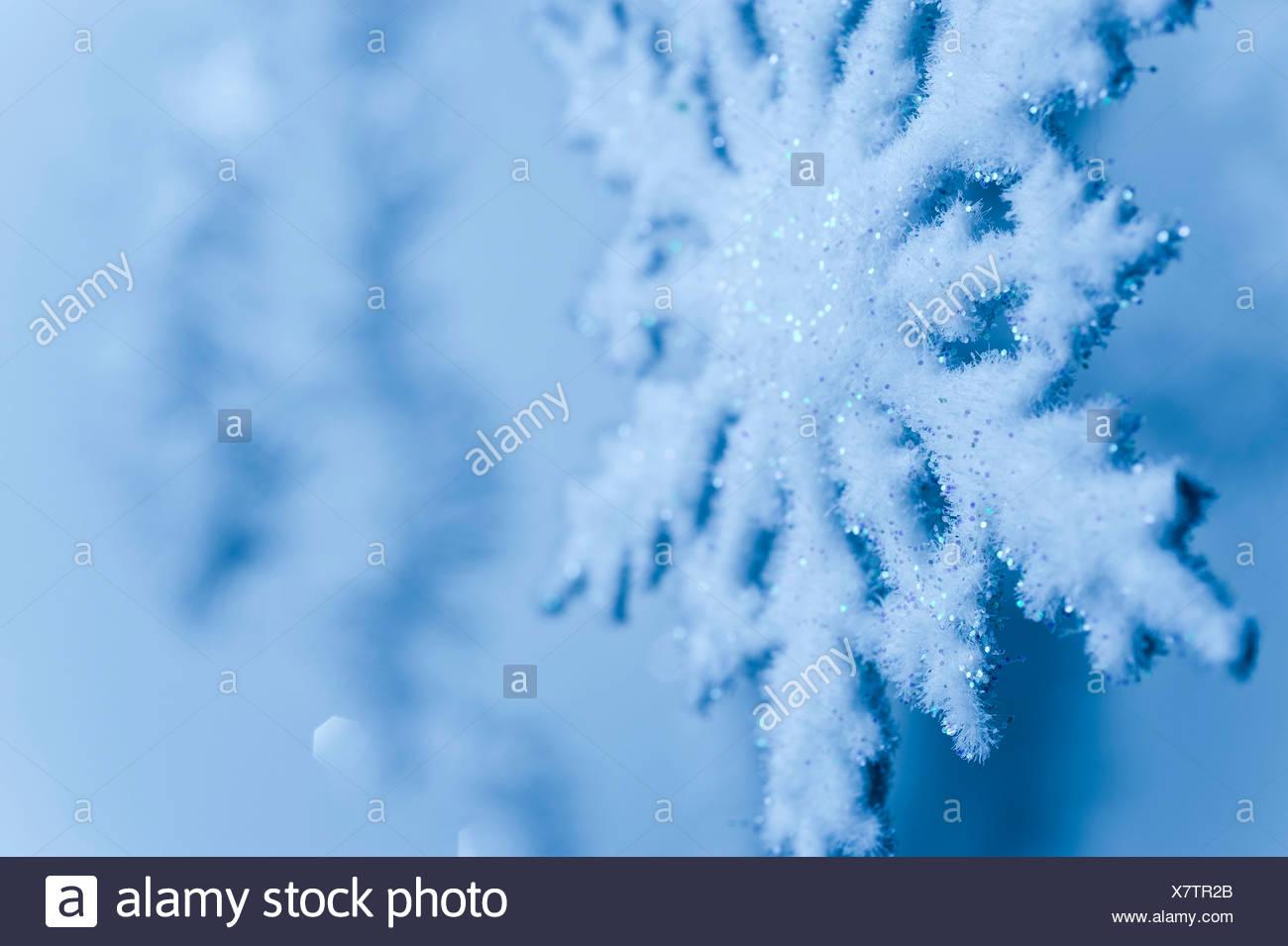 Schneeflocke-Dekoration Stockbild
