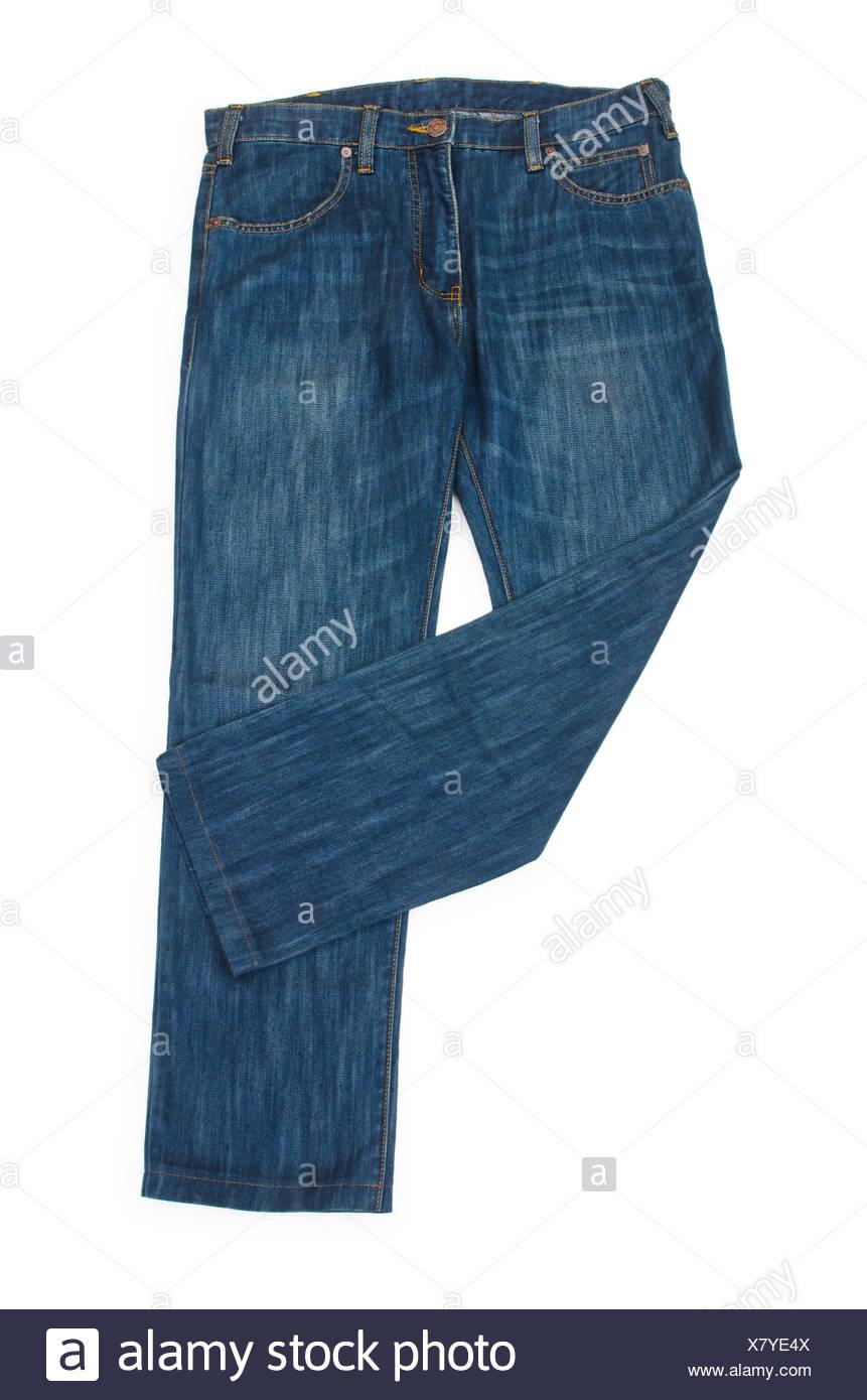 e71e8e6c9642 Paar Jeans isoliert auf dem weißen Stockfoto, Bild  280272298 - Alamy