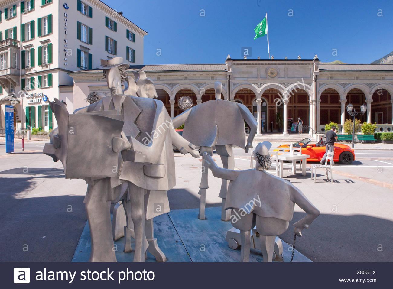RagARTs, Kultur, Kanton, SG, St. Gallen, Schweiz, Europa, Kunst, Geschicklichkeit, Bad Ragaz, Figuren Stockbild