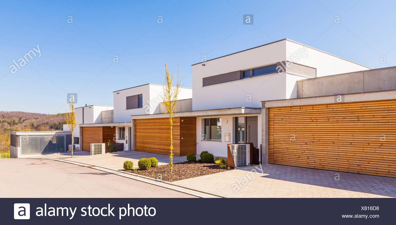 Deutschland, Baden-Württemberg, Blaustein, Neubaugebiet, moderne ...