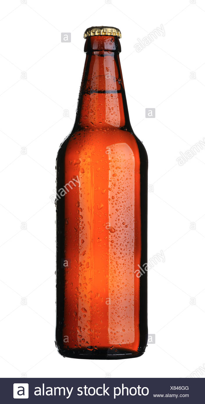 Bierflasche, isoliert Stockbild