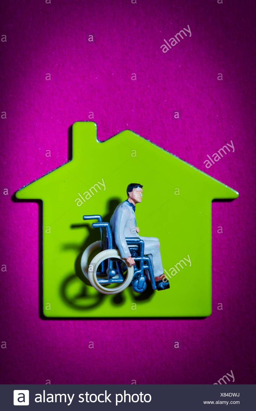 Konzeptbild auf Zugänglichkeit für körperlich Behinderte. Stockbild