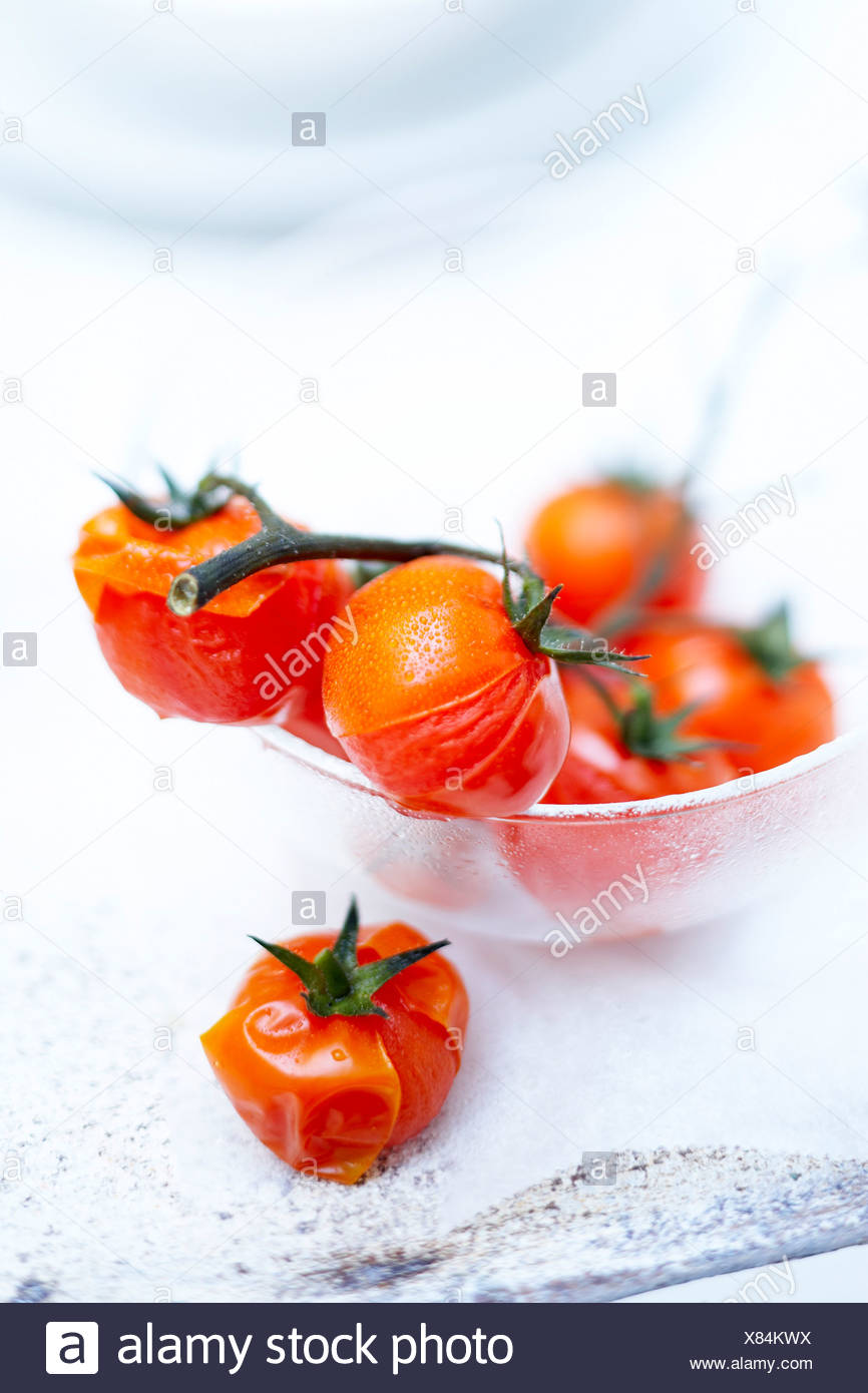 Dampf-Cooken Cherry-Tomaten Stockbild