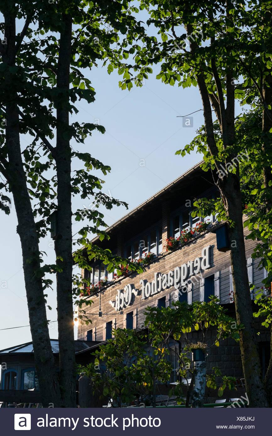 Mountain Inn Eck, Bayerischer Wald, Bayern, Deutschland, Stockbild